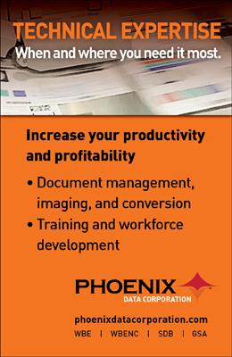 Phoenix Data Corporation provides technical expertise for document management integration.