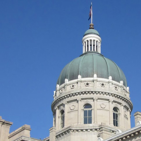View of the Indiana State Capitol building for NAWBO-Indy Day at the Statehouse