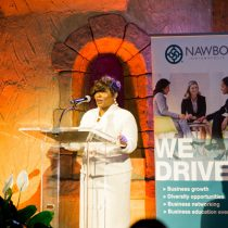 NAWBO-Indianapolis Board President | Tammy Butler-Robinson speaking at Trailblazers 2018